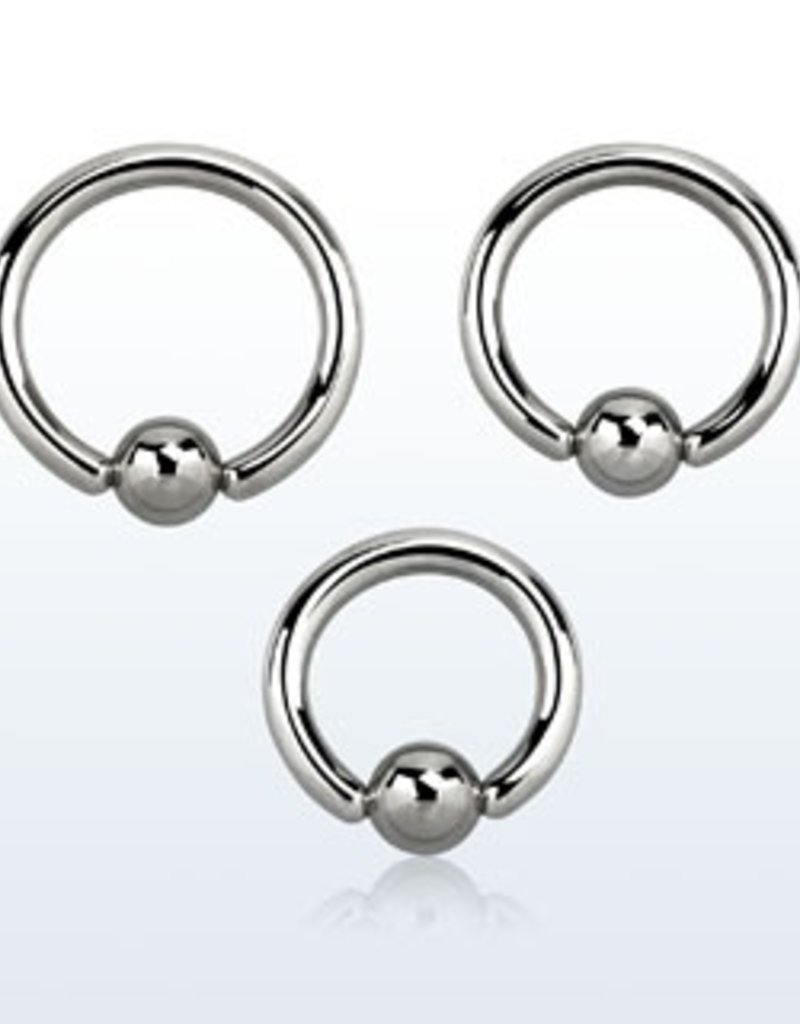 Ball closure ring, 10g, 6mm ball, 5/8''