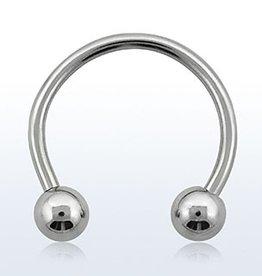 Circular barbell, 14g, 5mm ball - 10MM