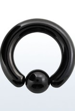 Anodized Ball closure ring, 0g with 10mm ball - 3/4""