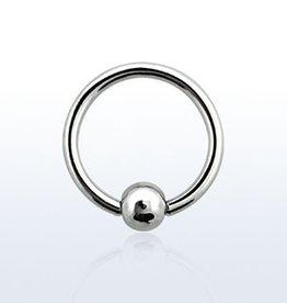 Ball closure ring, 18g, 3mm ball, 8mm