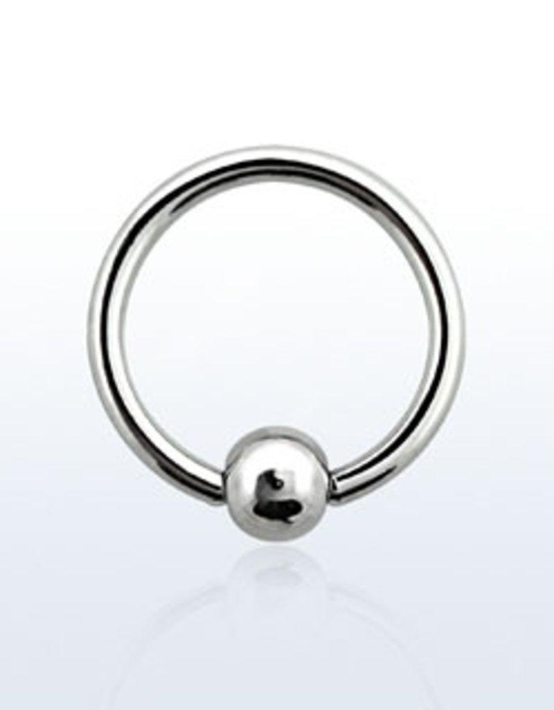 Ball closure ring, 18g, 3mm ball, 10mm