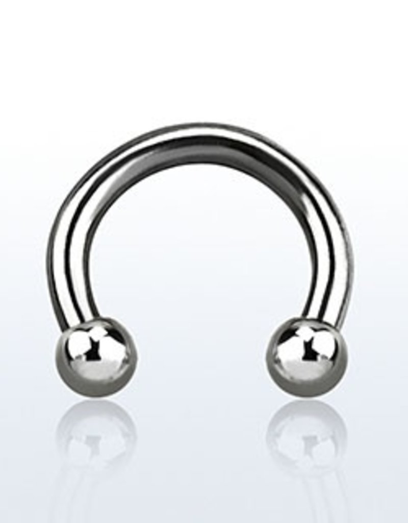 Circular barbell, 14g, 3mm ball - 10MM