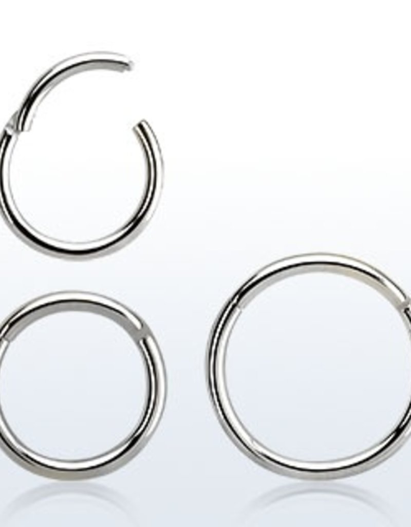 High polished surgical steel hinged segment ring, 18g -8MM