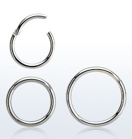 High polished surgical steel hinged segment ring, 18g -10MM