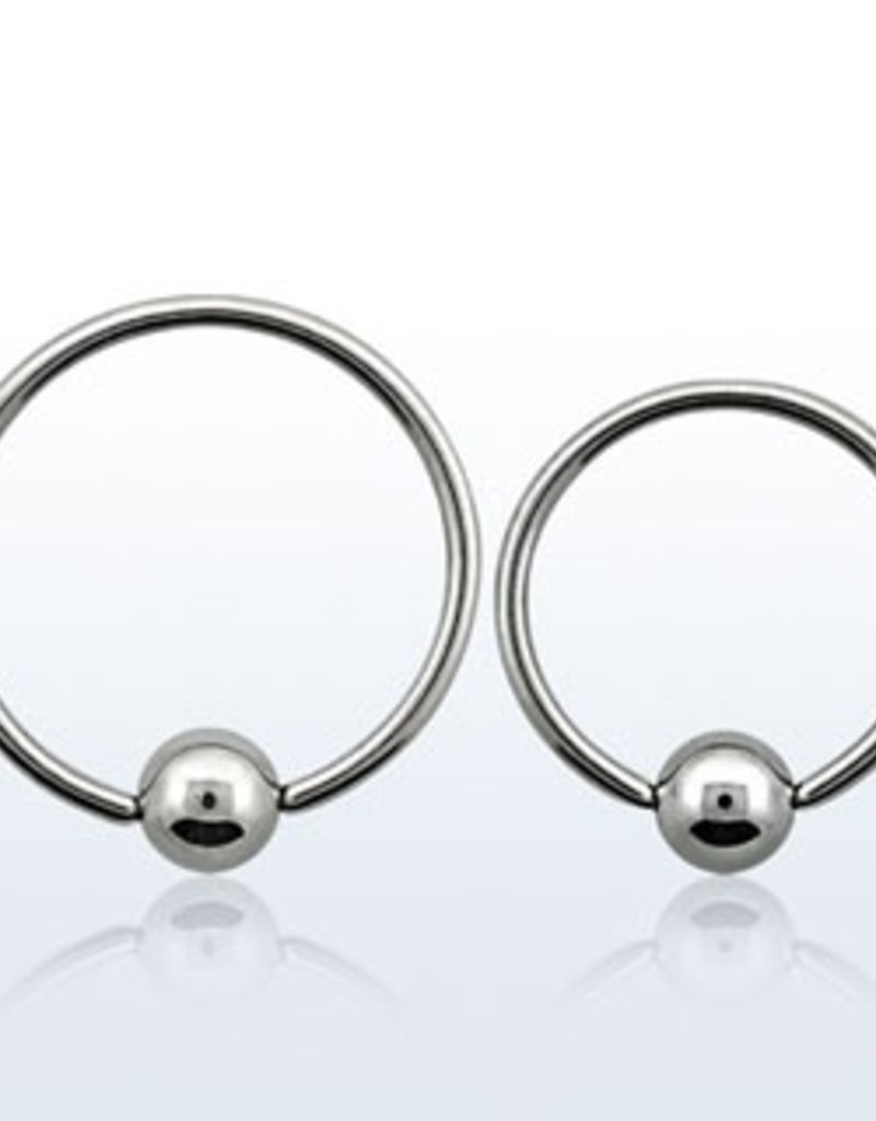 Ball closure ring, 20g, 3mm ball-8mm