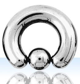 Surgical ball closure ring 0g with 10mm ball size 5/16'' - 19mm