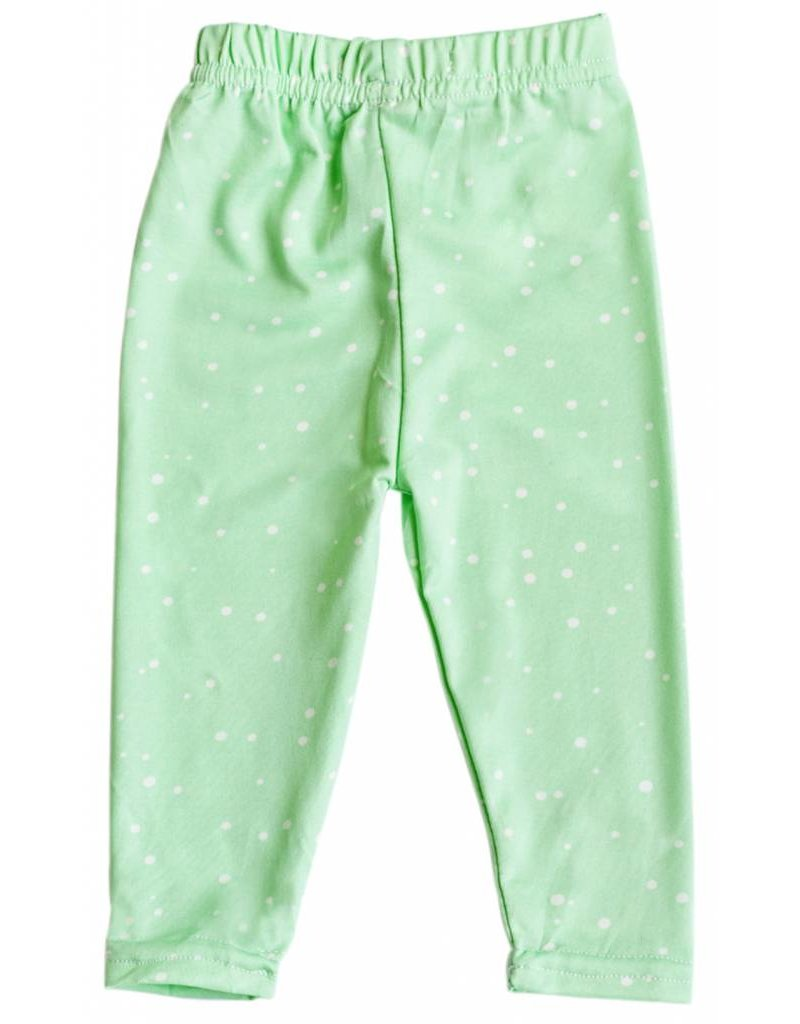 Bailey's Blossoms Mint Blizzard Leggings