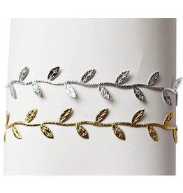 Bailey's Blossoms Metallic Leaf Headband