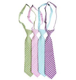 Bailey's Blossoms Gingham Neck Tie