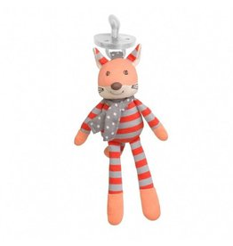 Apple Park Organic Pacifier Buddies - Frenchy Fox