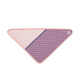 Apple Park Purple Polka Dots Bandana Bib