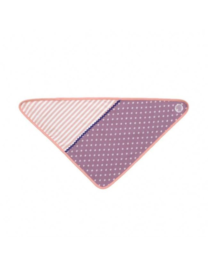Purple Polka Dots Bandana Bib