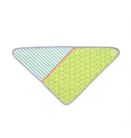 Green Tear Drop Bandana Bib