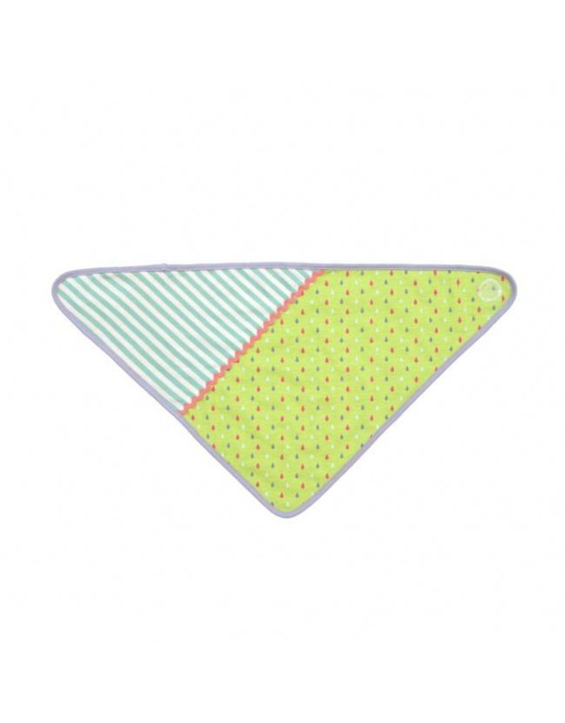 Apple Park Green Tear Drop Bandana Bib