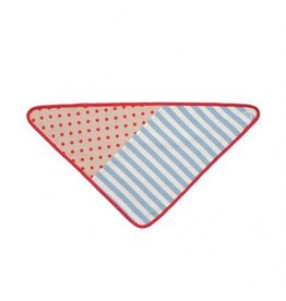 Blue Stripes Bandana Bib
