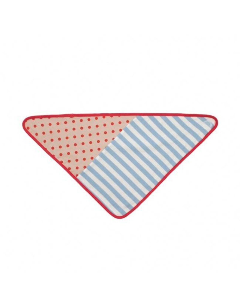 Apple Park Blue Stripes Bandana Bib