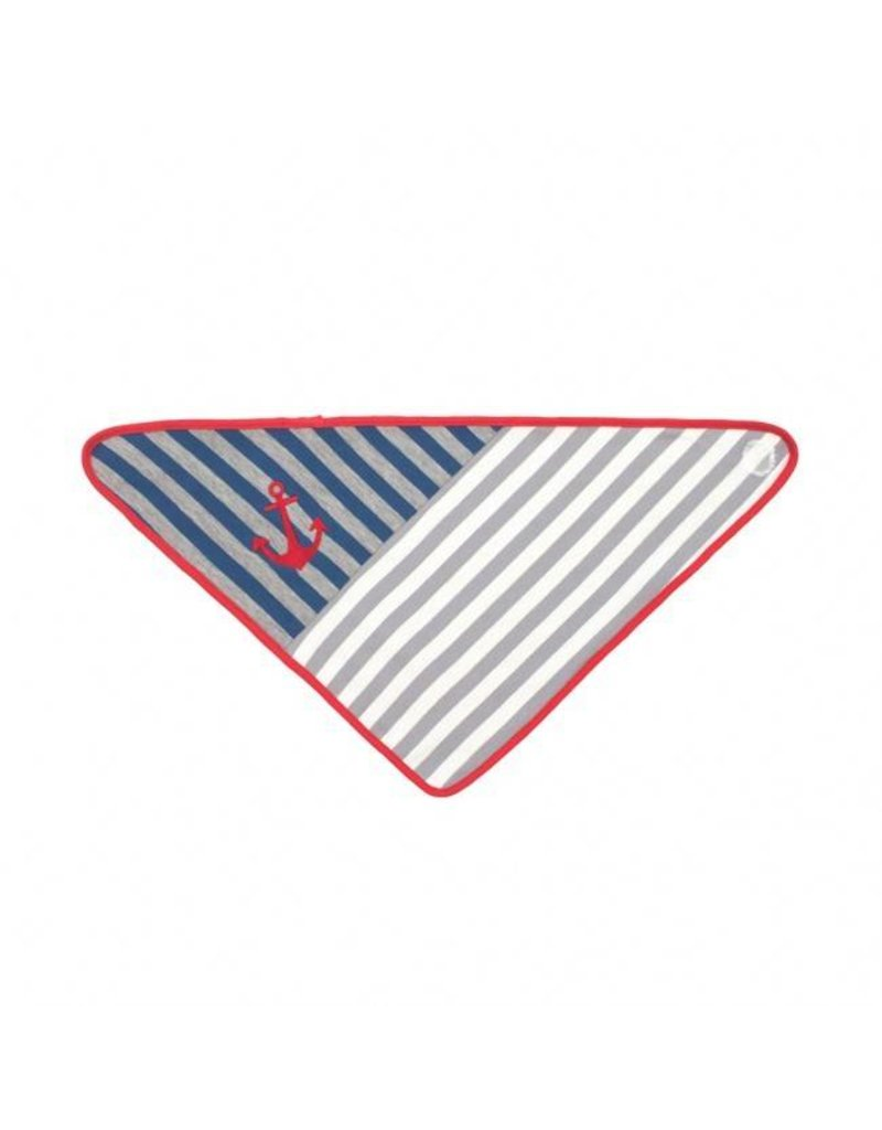 Grey Stripes Bandana Bib