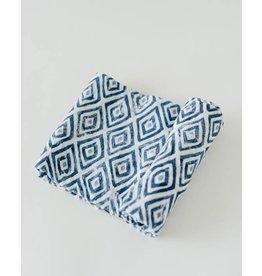 Little Unicorn Cotton Swaddle - Blue Topaz