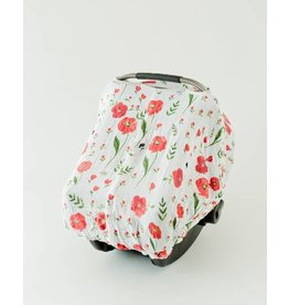 Little Unicorn Car Seat Canopy - Summer Poppy