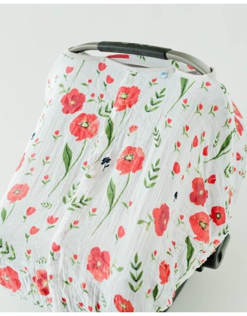 ... Little Unicorn Car Seat Canopy - Summer Poppy ...  sc 1 st  Lily Valley Baby & Little Unicorn Car Seat Canopy - Summer Poppy - Lily Valley Baby