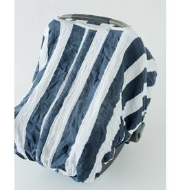 Car Seat Canopy - Navy Stripe