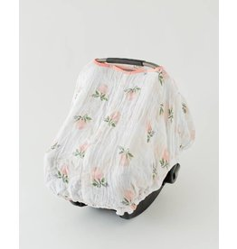 Car Seat Canopy - Watercolor Rose