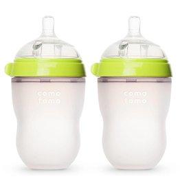 Comotomo Natural Feel Baby Bottle - Green 8 oz Double