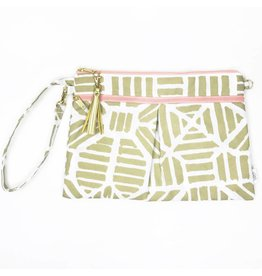 Logan + Lenora Wristlet Clutch - Gold Tribal