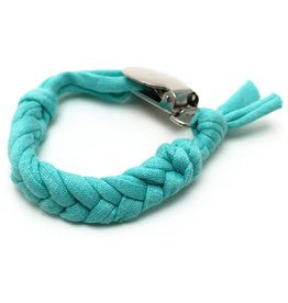 Loved by Sophia Claire Cotton Pacifier Clip - Teal