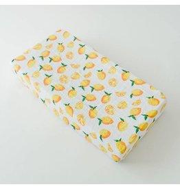 Cotton Changing Pad Cover - Lemon