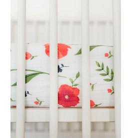 Little Unicorn Cotton Muslin Crib Sheet - Summer Poppy