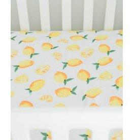 Little Unicorn Cotton Muslin Crib Sheet - Lemon