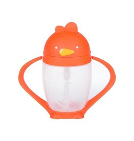 Lollacup Straw Sippy Cup - Happy Orange