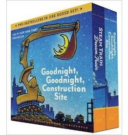 Chronicle Books Goodnight, Goodnight, Construction Site and Steam Train, Dream Train Board Books Boxed Set