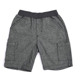 Dark Grey Chambray Cargo Short