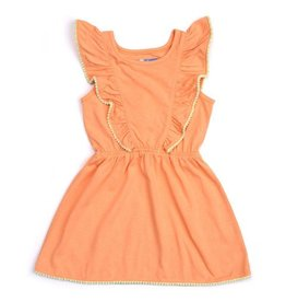 Orange Cream Jersey Dress
