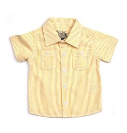 Lemon Stripe Button Down Shirt