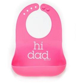 Wonder Bib - Hi Dad Pink