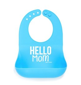 Bella Tunno Wonder Bib - Hello Mom Blue