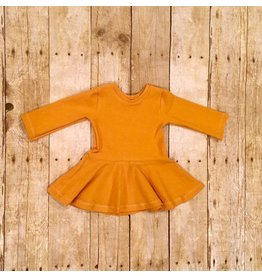 Quiver Full of Children Mustard Peplum Top