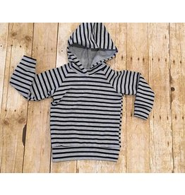 Quiver Full of Children Grey Striped Hoodie