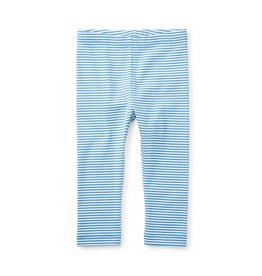 Blue Striped Capri Leggings