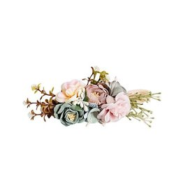 Bailey's Blossoms Floral Stretch Headband - Mauve & Seafoam