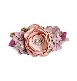Floral Stretch Headband - Mauve & Lavender