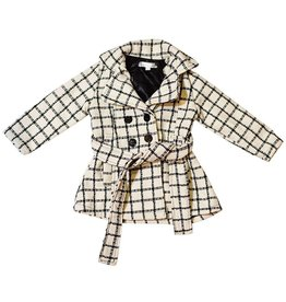 Black Stripe Pea Coat 4T