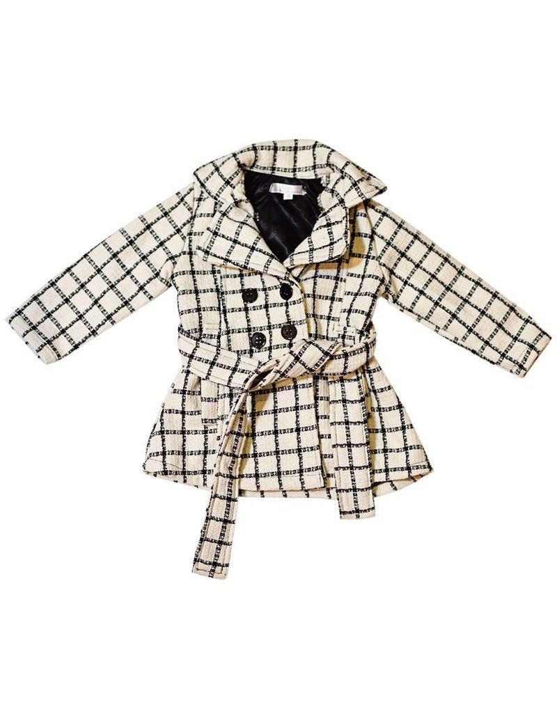 Black Stripe Pea Coat 4T