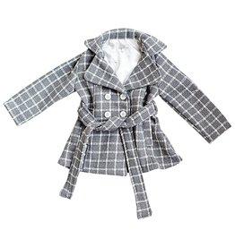 Bailey's Blossoms Gray Stripe Pea Coat