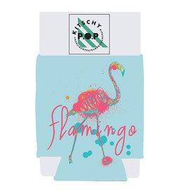 Kitschy POP Flamingo Koozie