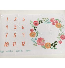 Monthly Memory Swaddle - Floral Field