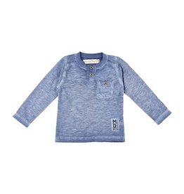 MinyMo Long Sleeve Henley Blue
